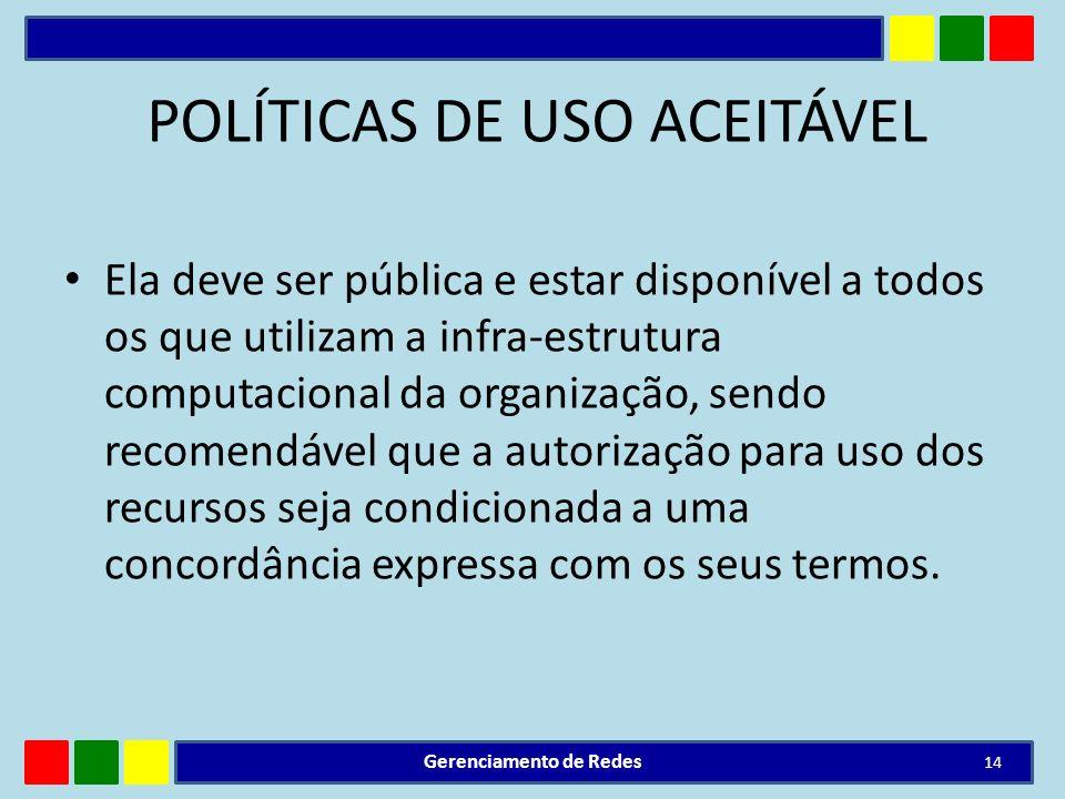 POLÍTICAS DE USO ACEITÁVEL