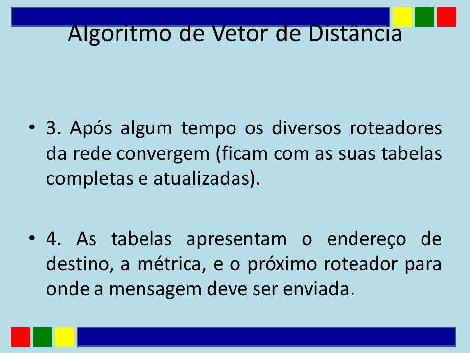 Algoritmo de Vetor de Distância