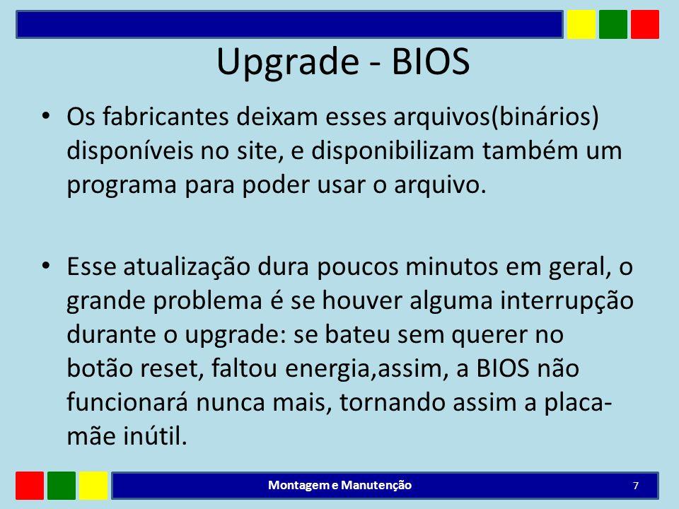 Upgrade - BIOSOs fabricantes deixam esses arquivos(binários) disponíveis no site, e disponibilizam também um programa para poder usar o arquivo.