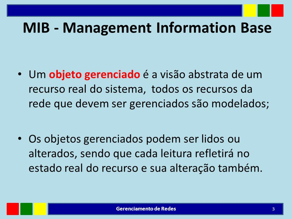 MIB - Management Information Base