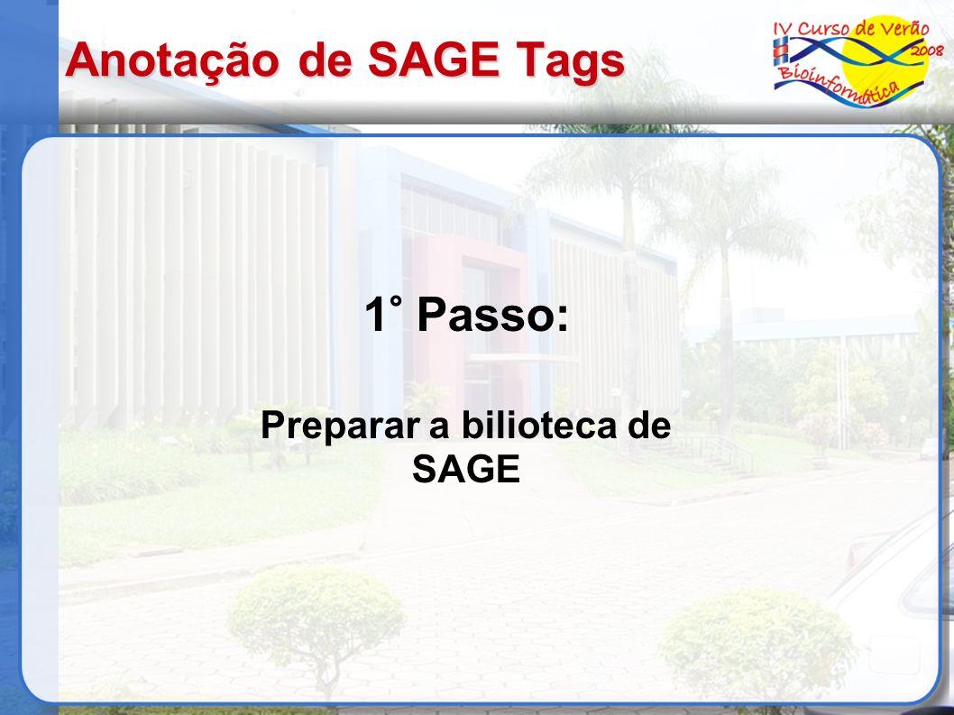 Preparar a bilioteca de SAGE