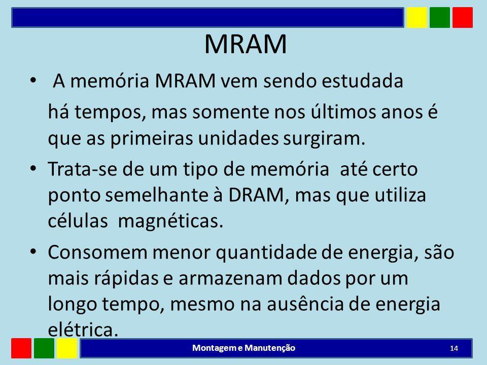 MRAM A memória MRAM vem sendo estudada