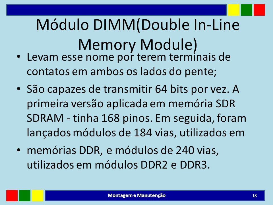 Módulo DIMM(Double In-Line Memory Module)