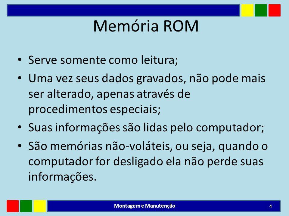Memória ROM Serve somente como leitura;