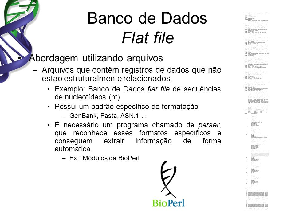 Banco de Dados Flat file