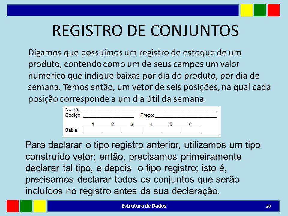 REGISTRO DE CONJUNTOS