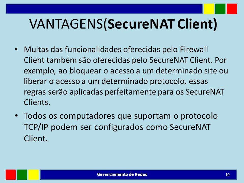 VANTAGENS(SecureNAT Client)