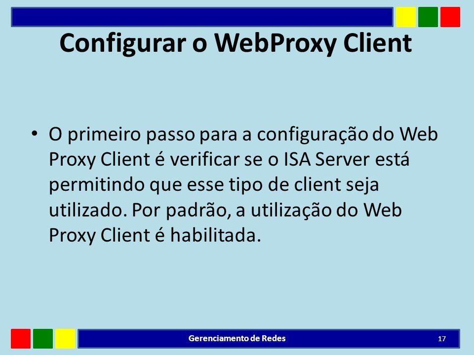 Configurar o WebProxy Client