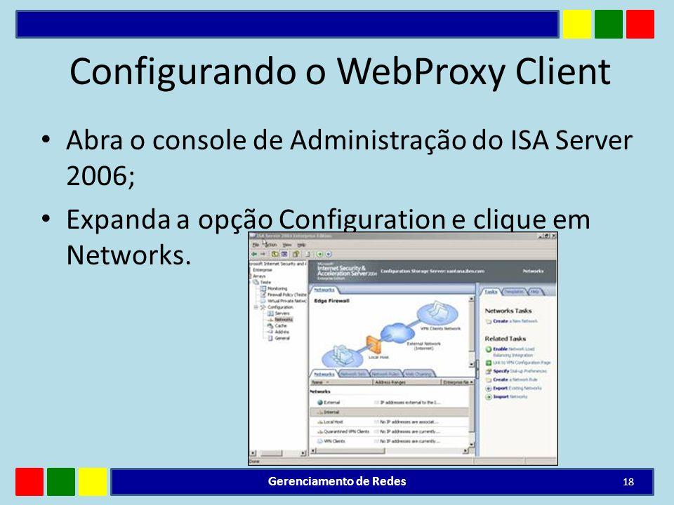 Configurando o WebProxy Client