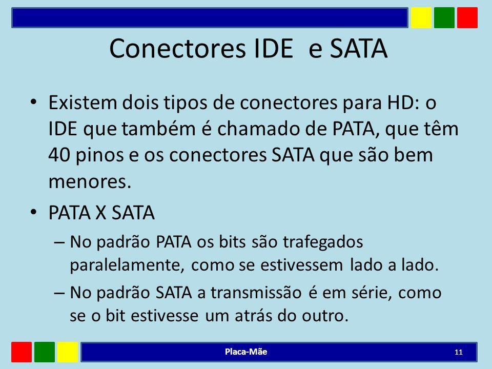 Conectores IDE e SATA