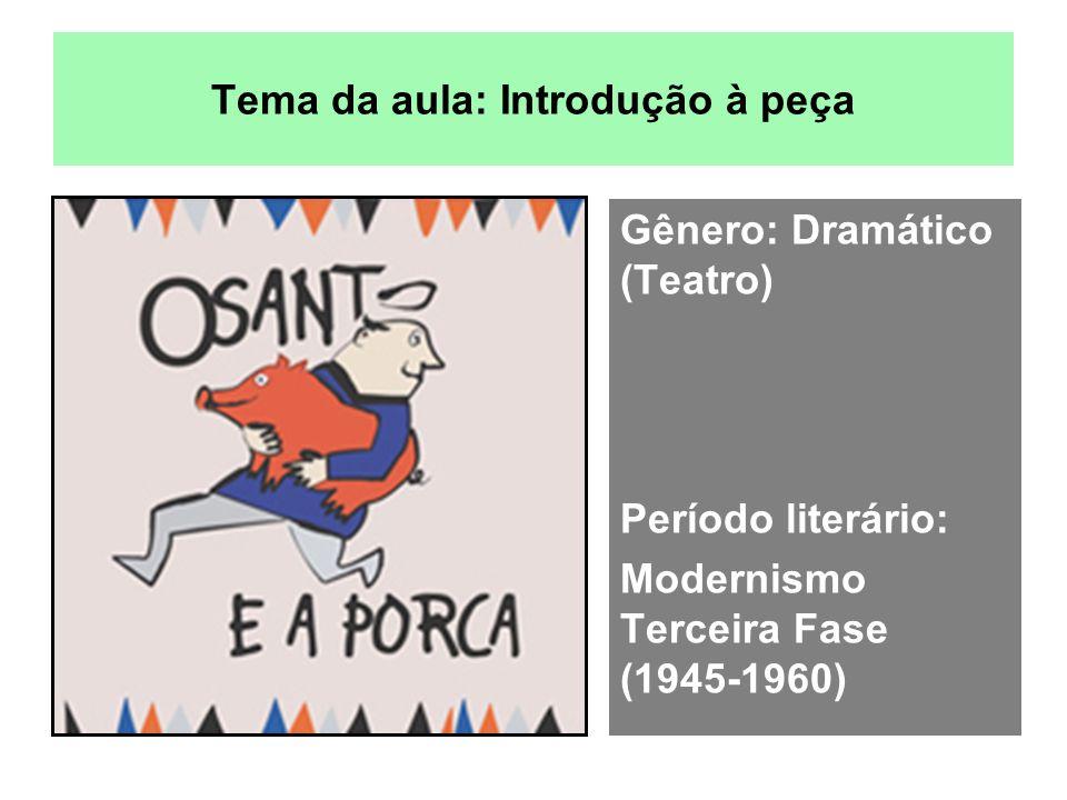 Tema da aula: Introdução à peça