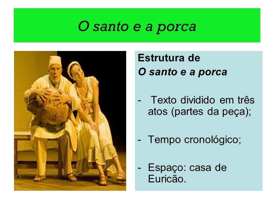 O santo e a porca Estrutura de O santo e a porca