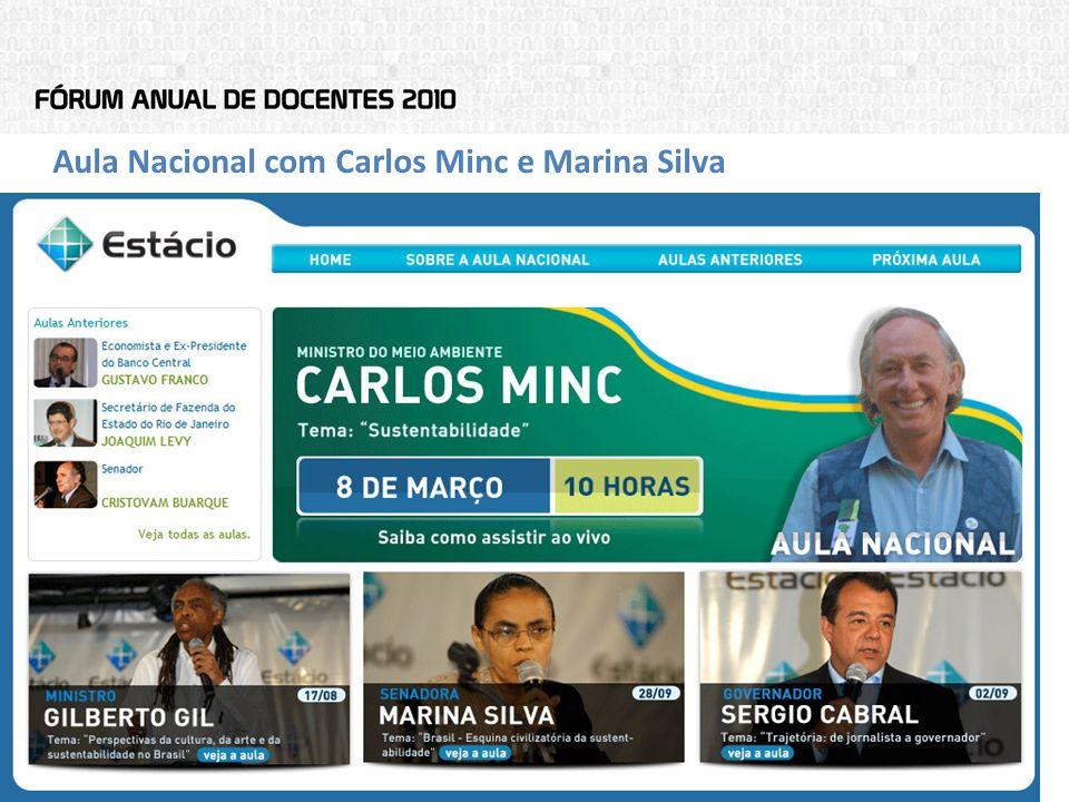 Aula Nacional com Carlos Minc e Marina Silva