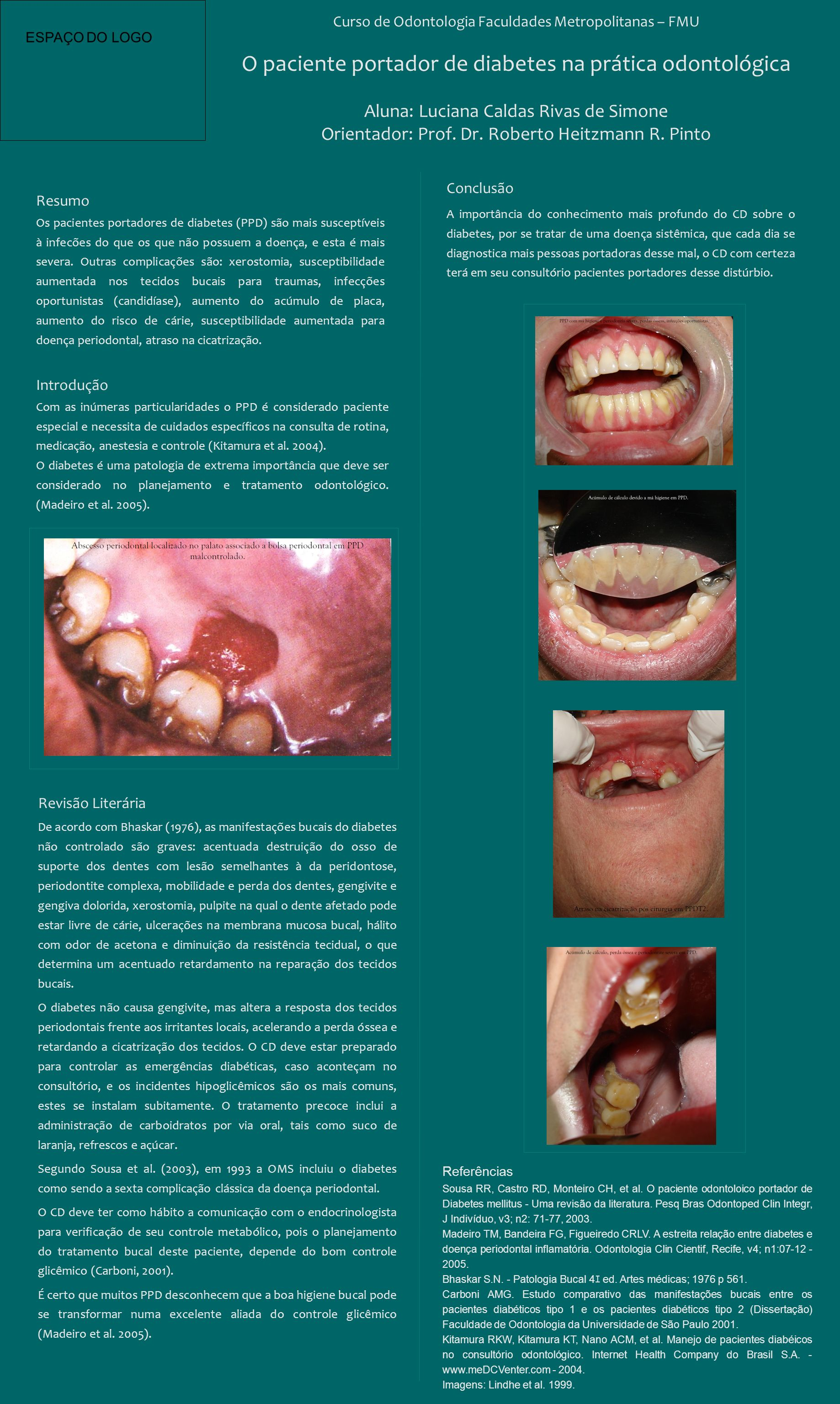 O paciente portador de diabetes na prática odontológica