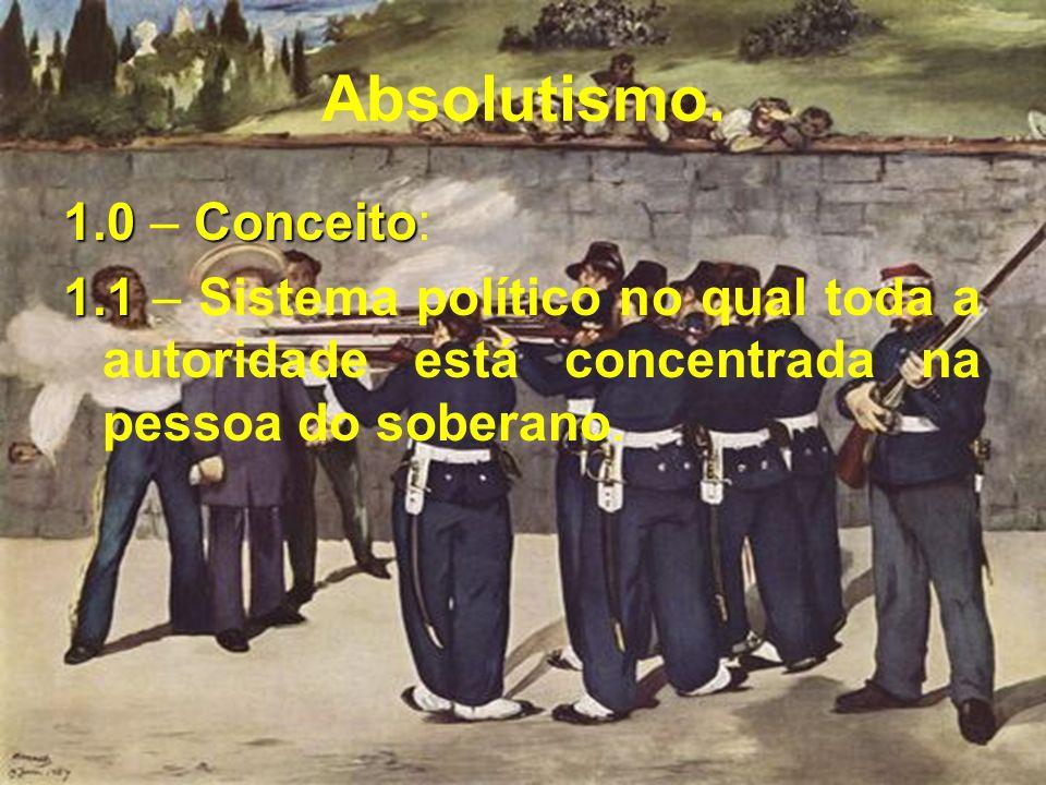 Absolutismo. 1.0 – Conceito: