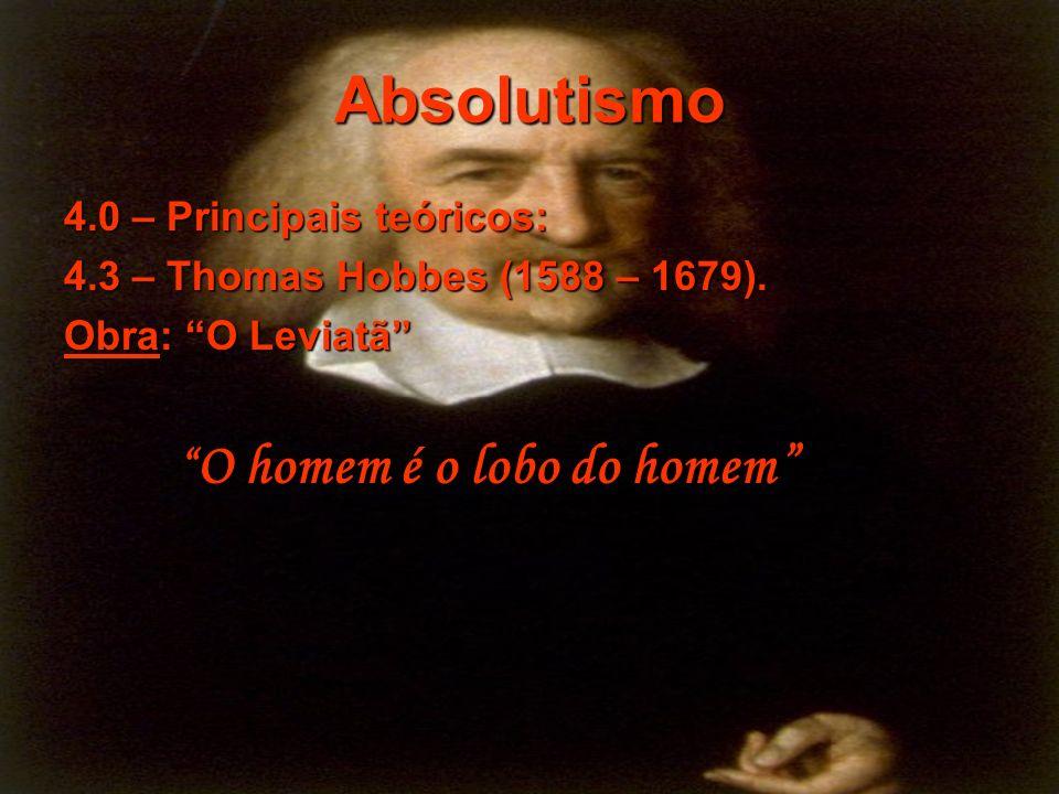 Absolutismo 4.0 – Principais teóricos: