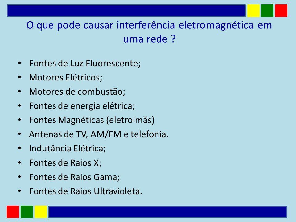 O que pode causar interferência eletromagnética em uma rede
