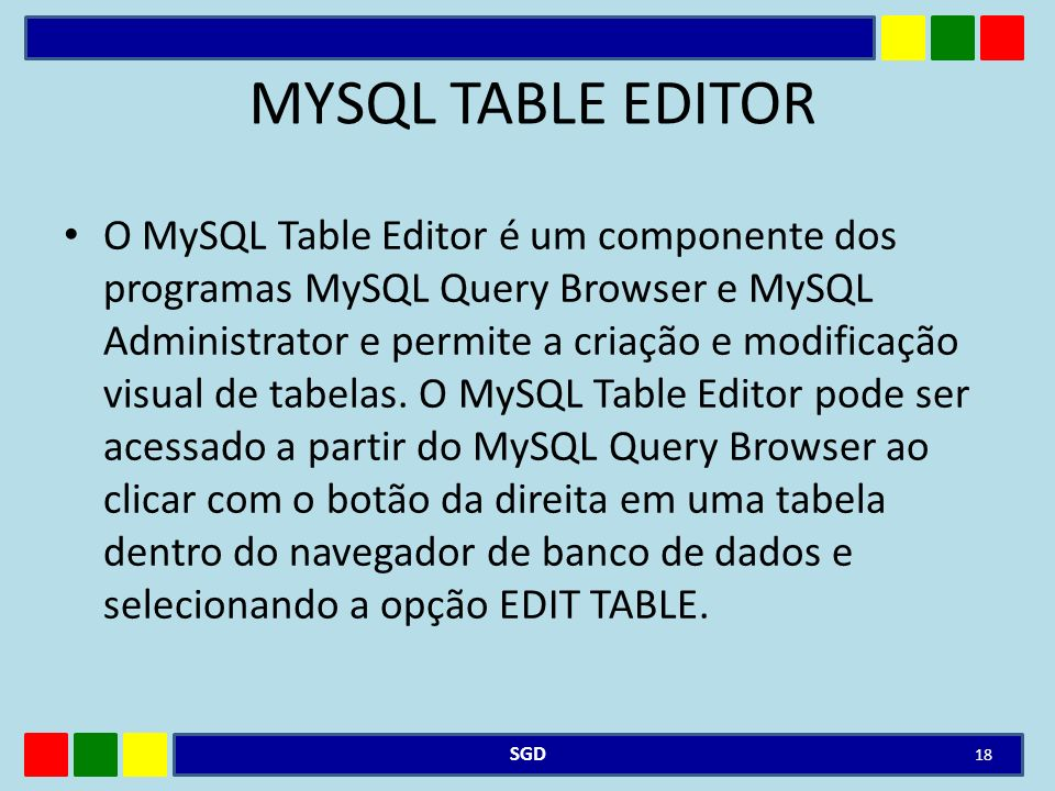 MYSQL TABLE EDITOR