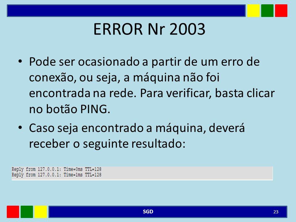 ERROR Nr 2003