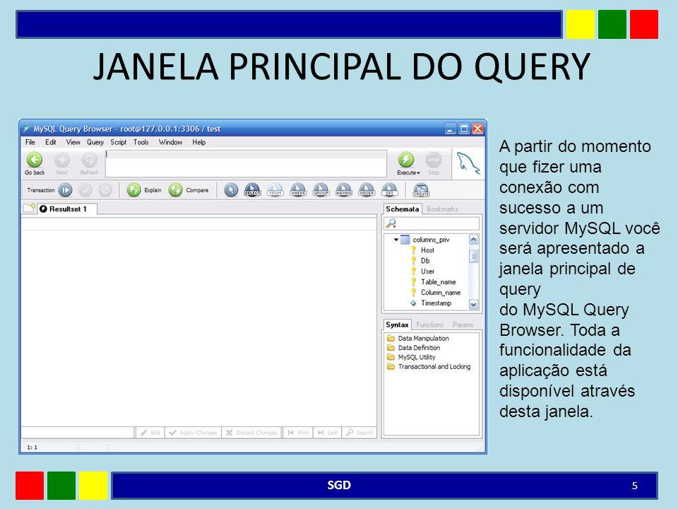JANELA PRINCIPAL DO QUERY
