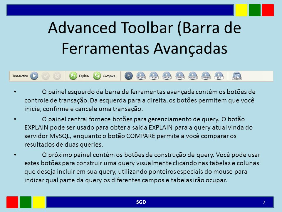 Advanced Toolbar (Barra de Ferramentas Avançadas