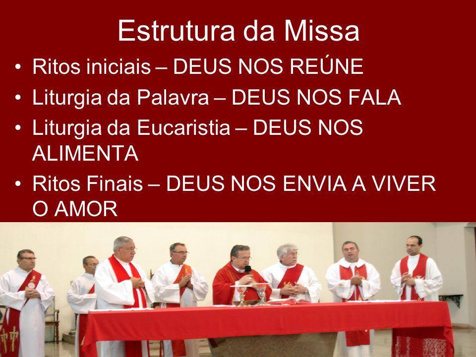 Estrutura da Missa Ritos iniciais – DEUS NOS REÚNE