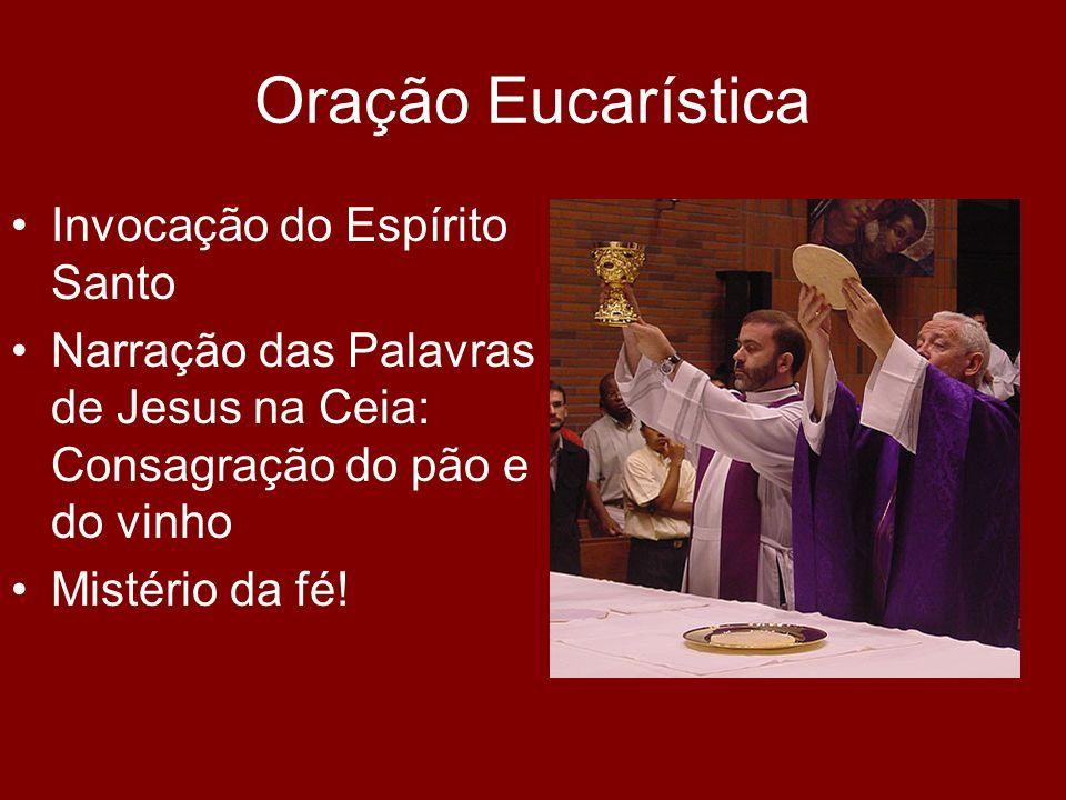 Oração Eucarística Invocação do Espírito Santo