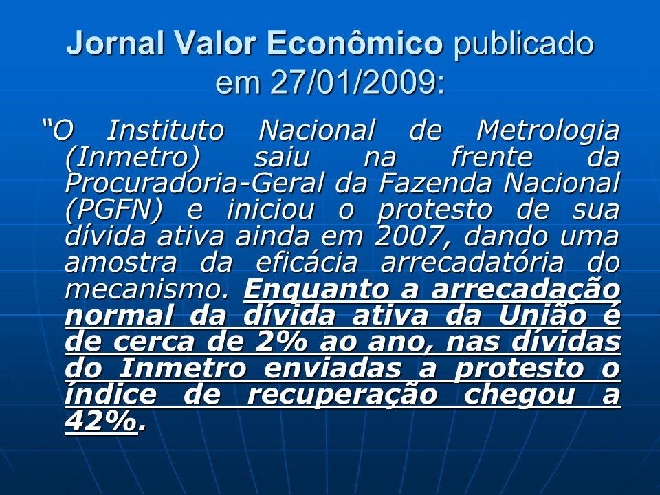 Jornal Valor Econômico publicado em 27/01/2009: