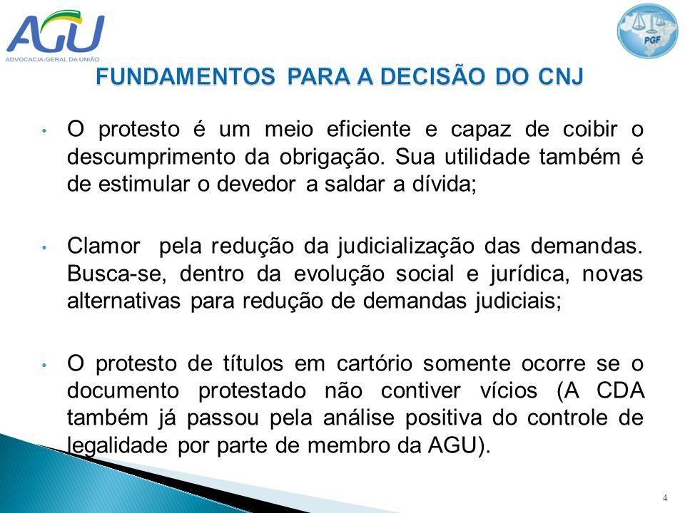 FUNDAMENTOS PARA A DECISÃO DO CNJ