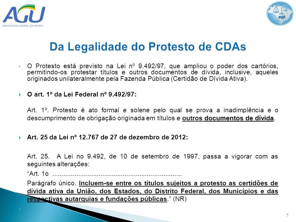 Da Legalidade do Protesto de CDAs