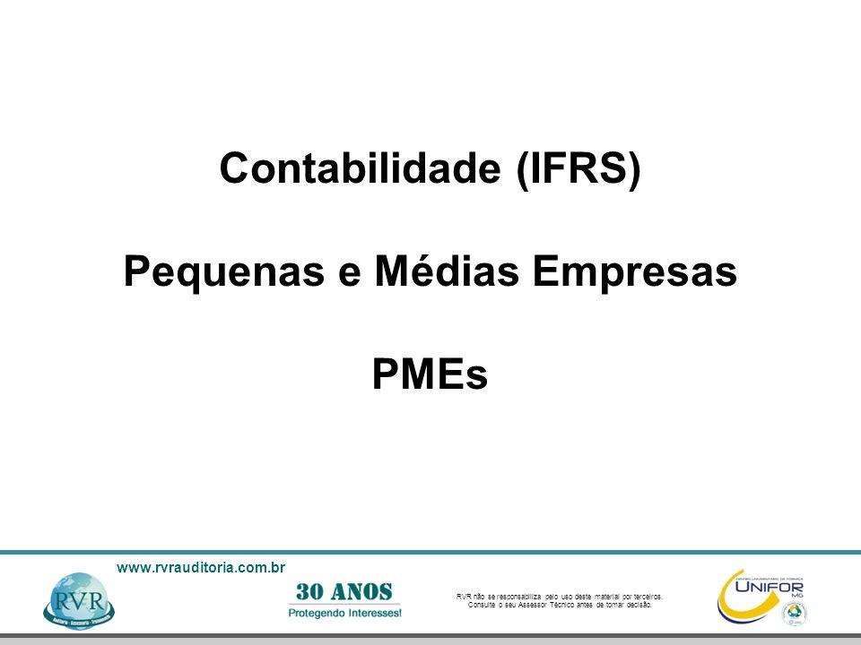 Contabilidade (IFRS) Pequenas e Médias Empresas PMEs