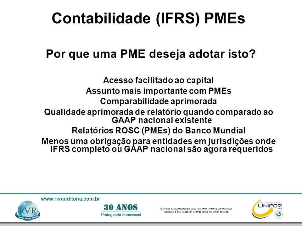 Contabilidade (IFRS) PMEs