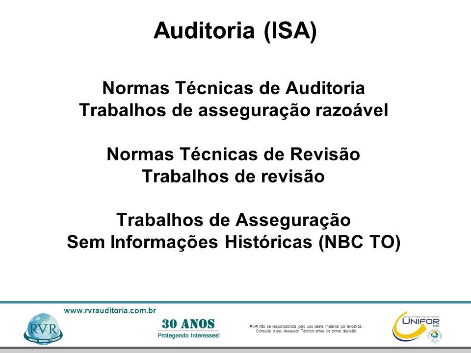 Auditoria (ISA) Normas Técnicas de Auditoria