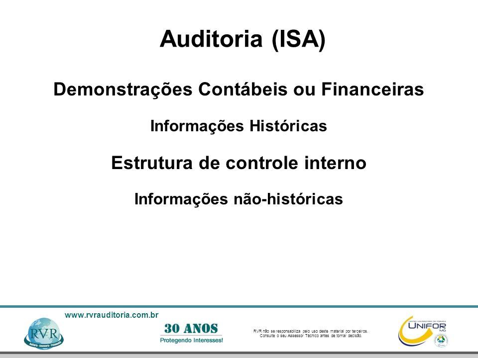 Auditoria (ISA) Demonstrações Contábeis ou Financeiras