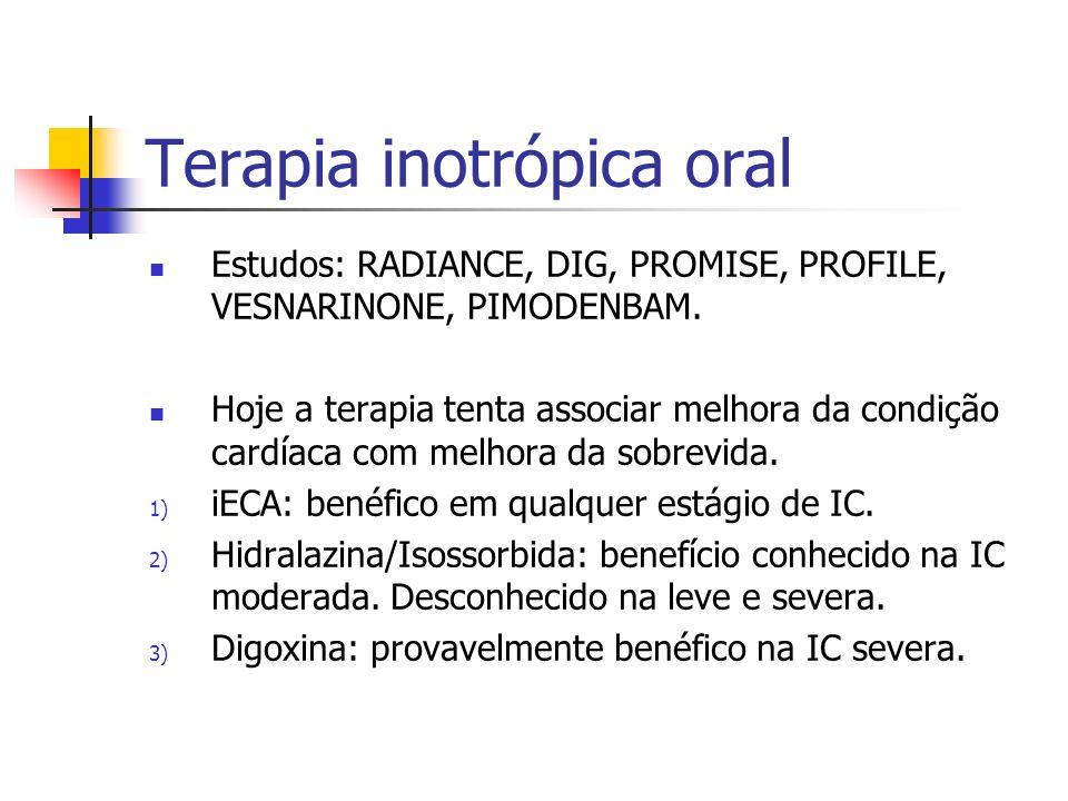 Terapia inotrópica oral