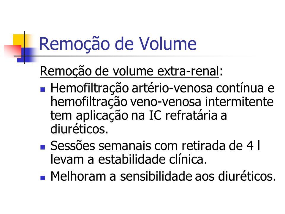 Remoção de Volume Remoção de volume extra-renal: