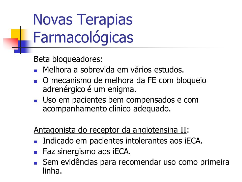 Novas Terapias Farmacológicas