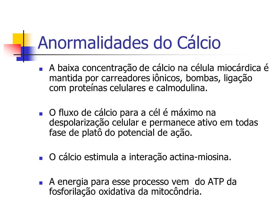 Anormalidades do Cálcio