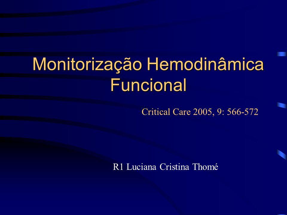 Monitorização Hemodinâmica Funcional