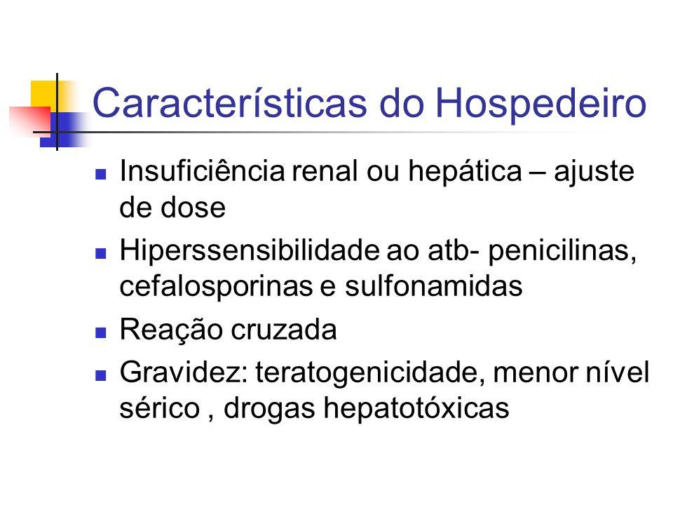 Características do Hospedeiro