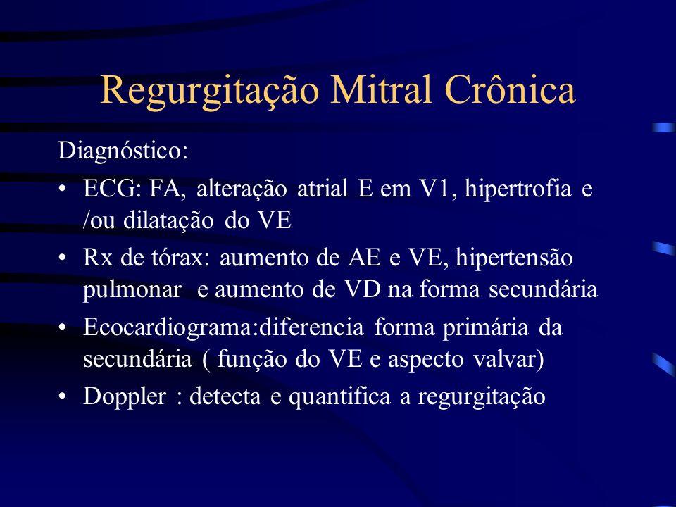 Regurgitação Mitral Crônica