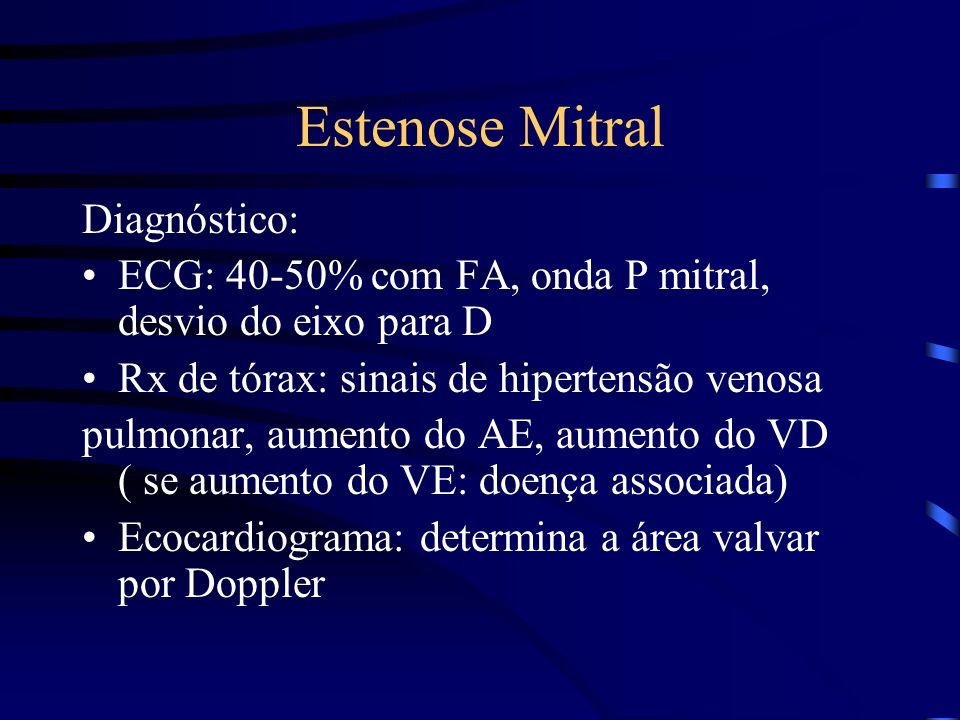 Estenose Mitral Diagnóstico: