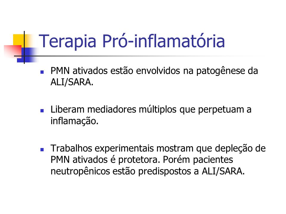 Terapia Pró-inflamatória
