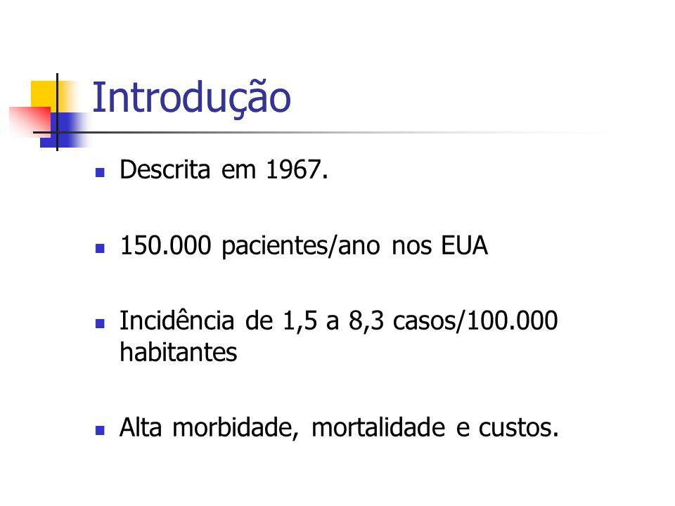 Introdução Descrita em 1967. 150.000 pacientes/ano nos EUA