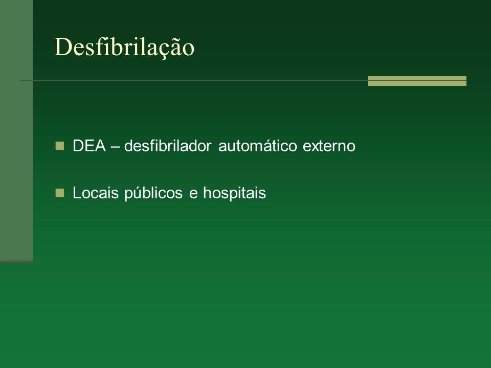 Desfibrilação DEA – desfibrilador automático externo