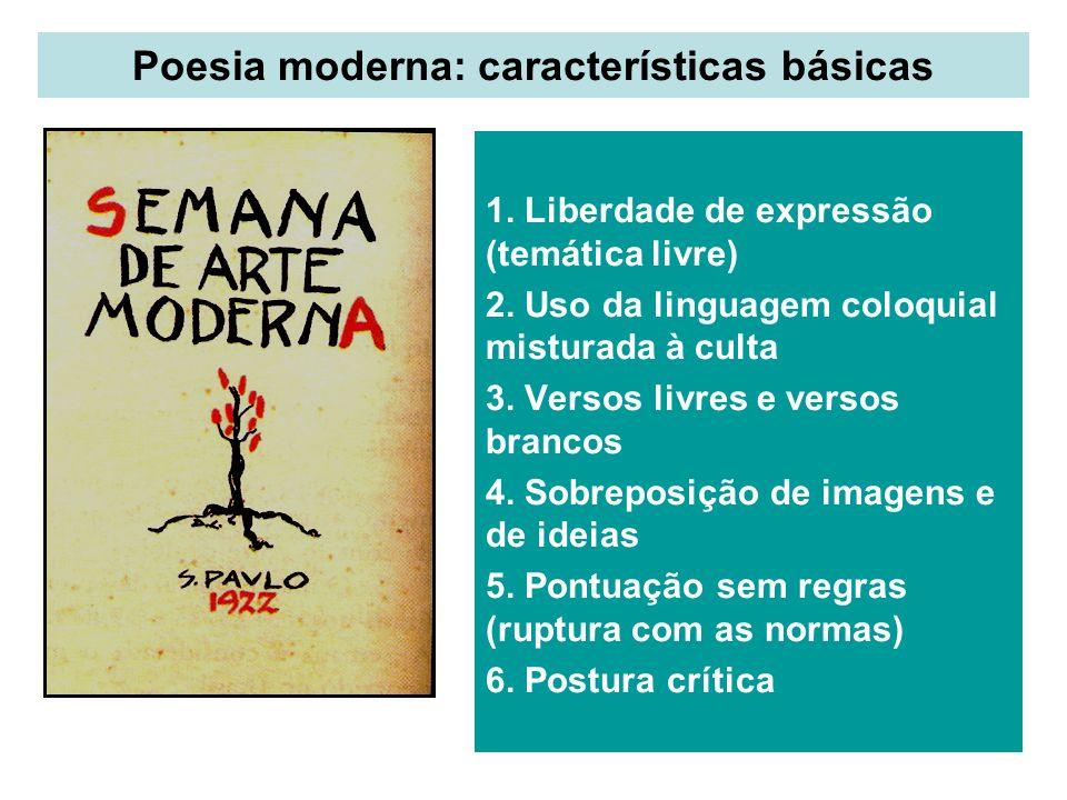 Poesia moderna: características básicas