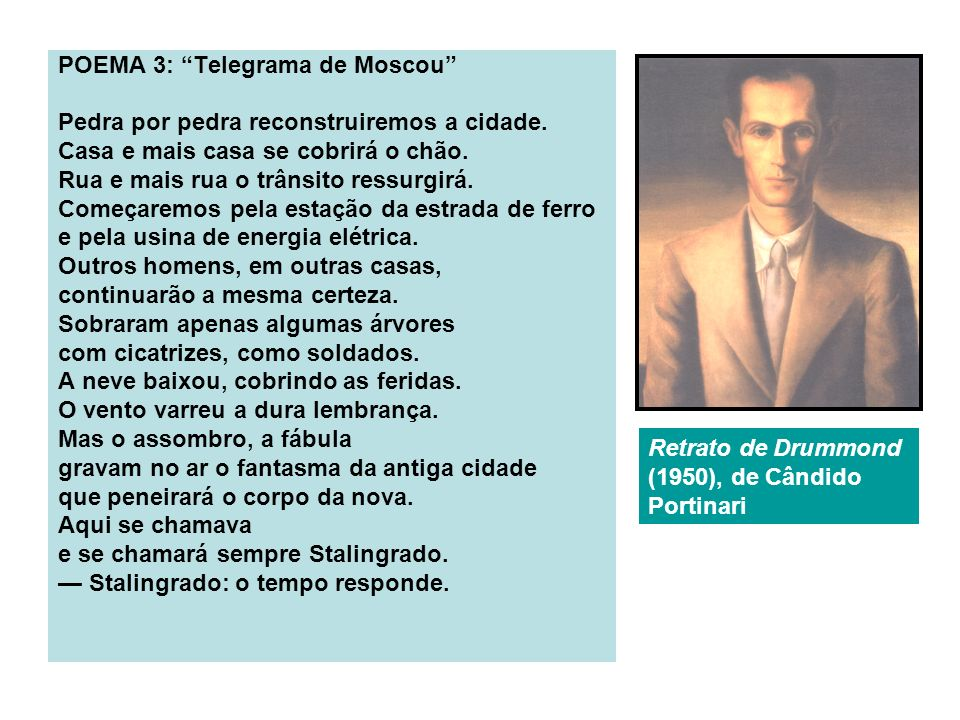 POEMA 3: Telegrama de Moscou