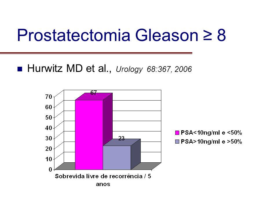Prostatectomia Gleason ≥ 8