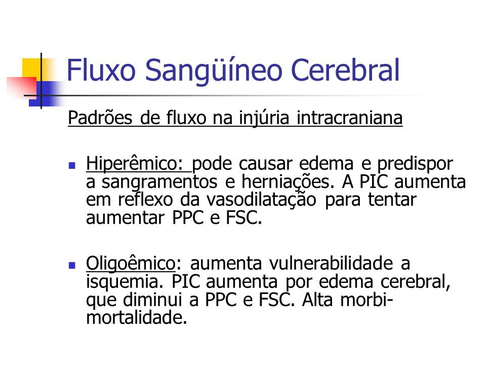 Fluxo Sangüíneo Cerebral