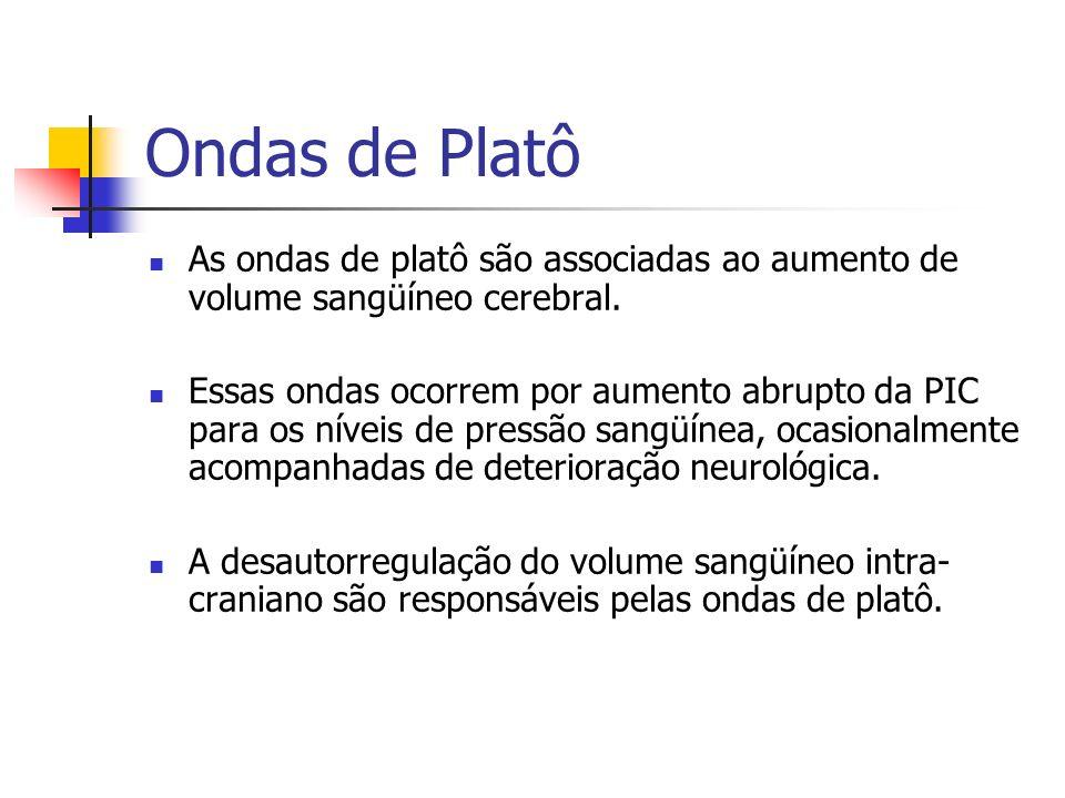 Ondas de Platô As ondas de platô são associadas ao aumento de volume sangüíneo cerebral.